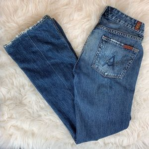 7 For All Mankind A Pocket Distressed Jeans 25X32